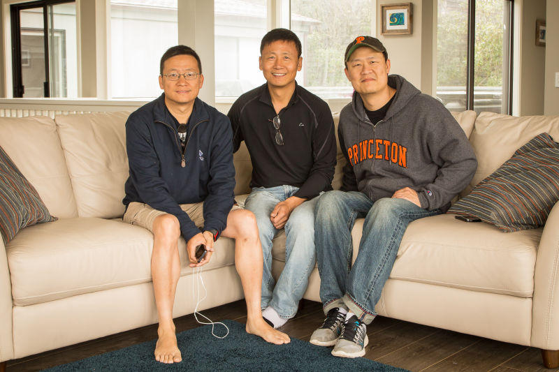 Left to Right: Ben Yu, Deyu Xu and Bing Wang. Alumnis of Paul's group 10-15 years ago. They currently all reside in Silicon Valley.